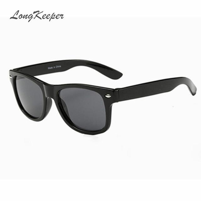 LongKeeper Прохладно Солнцезащитные Очки для Детей Бренда Дизайн Солнцезащитные Очки для Детей Мальчики Девочки Солнцезащитные Очки Защита UV 400 Заклепки óculos