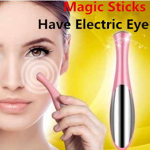 Skin Beauty Care Mini Massage Device Electric Eye Massager Facial Vibration Thin Face Magic Stick Anti Bag Pouch &wrinkle Pen(China (Mainland))