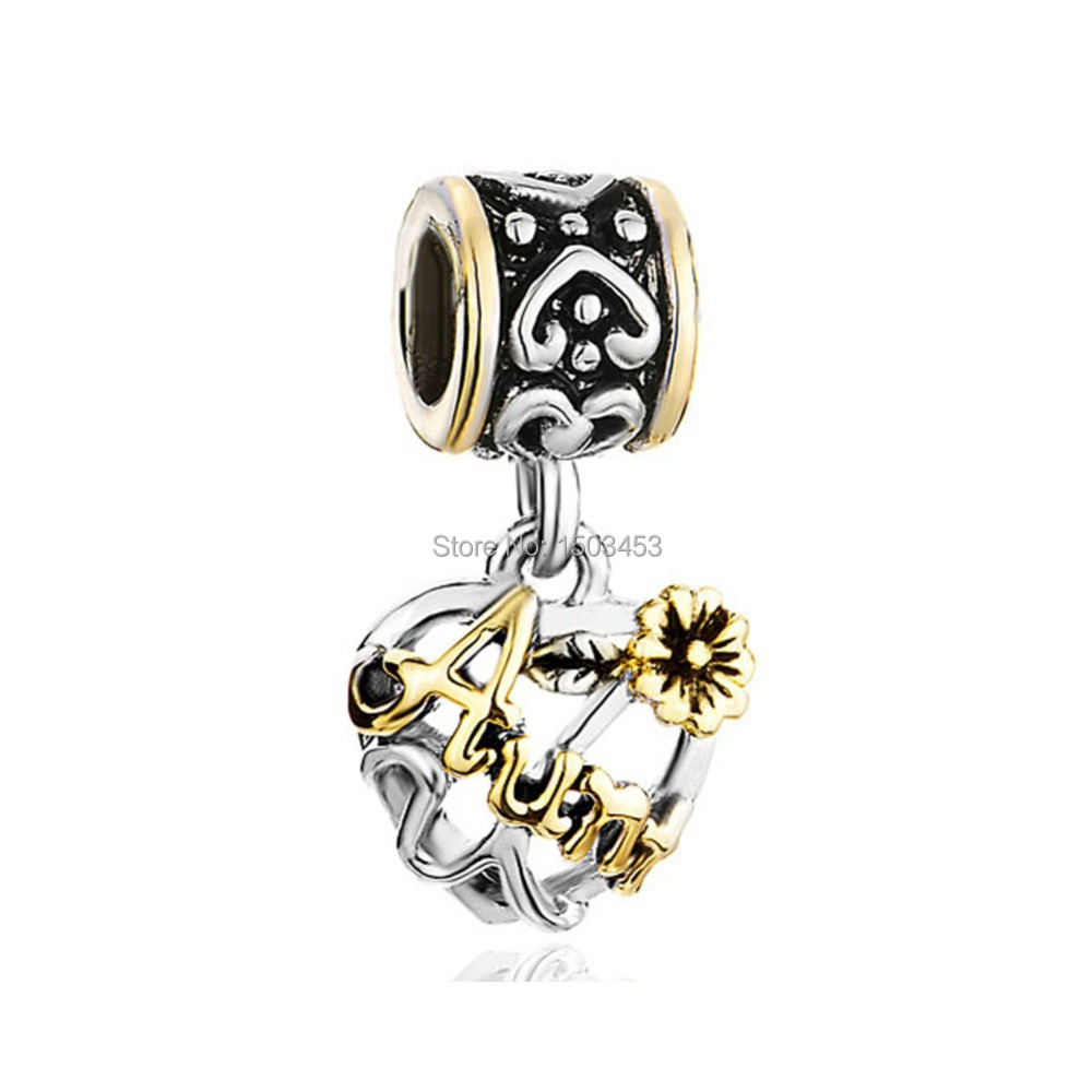 Aunt love dangle charm fit for pandora bracelet in charms for Pandora aunt charm jewelry