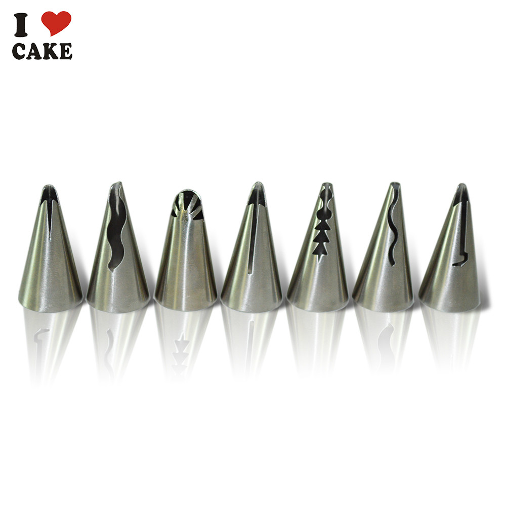 Гаджет  7pcsCake Decorating Tool Decorating Tip Sets Fondant Cake Tools Stainless steel seamless creating frills in royal icing nozzeles None Дом и Сад