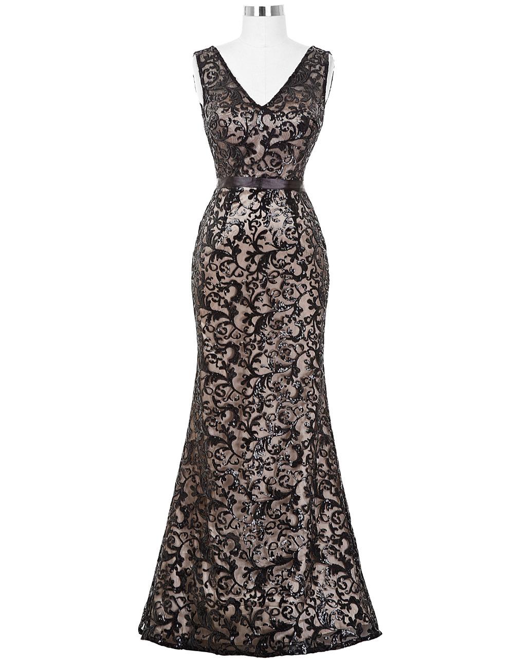 buy long evening dress 2016 new arrival formal dresses sexy v neck sequin black. Black Bedroom Furniture Sets. Home Design Ideas