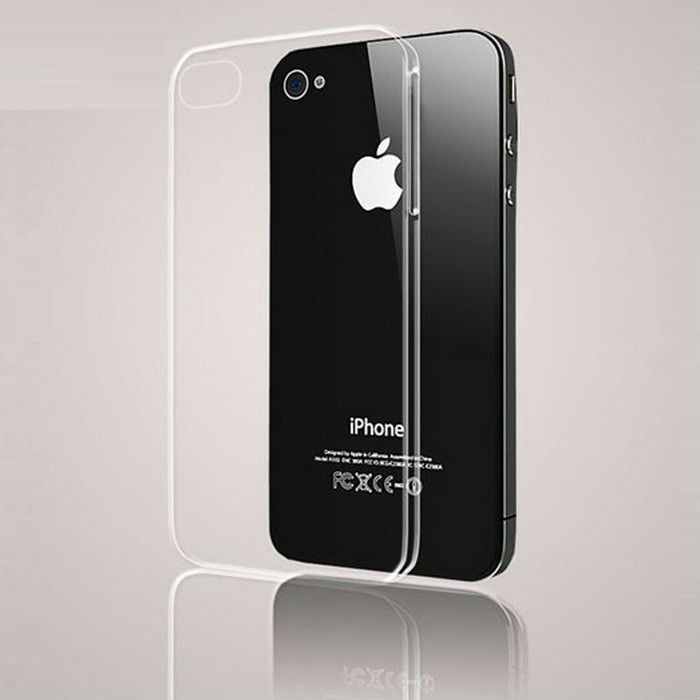 Simple Slim Fit Crystal Clear Glossy Transparent Back Snap-on Hard PC Case Cover Protective Shell For Apple iPhone 4S 4(China (Mainland))