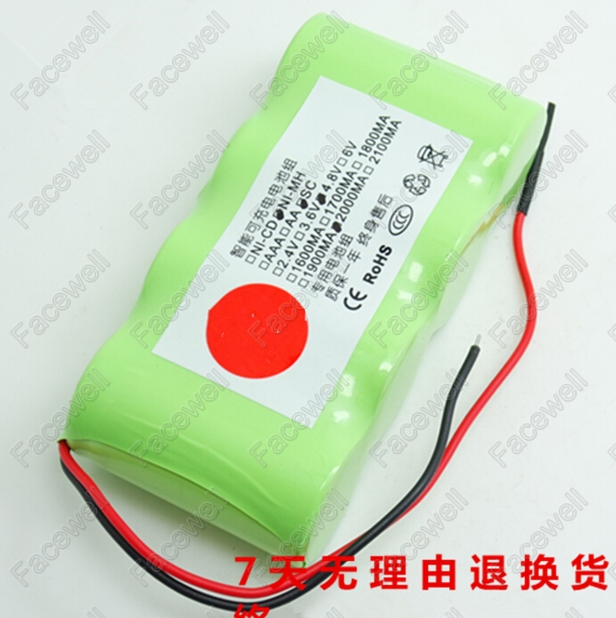 sweeper Universal 4.8v battery pack nimh battery 4.8v SC 2000mah rechargeable Ni-mh FMART hand held electric sweeper FM005 FM007(China (Mainland))
