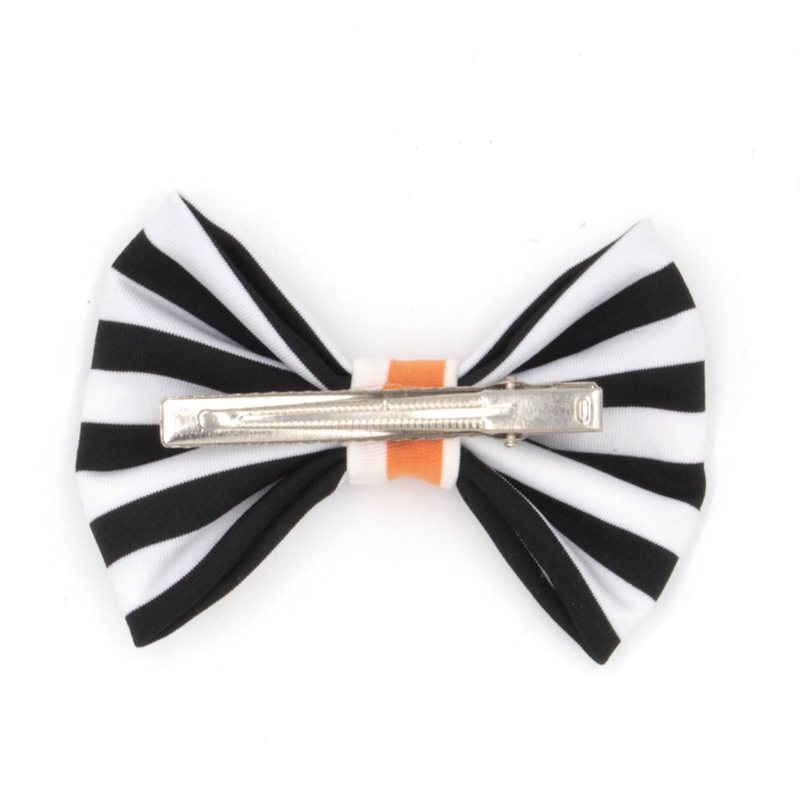 10pcs/lot 4'' Stripped Cotton Bow Chic European Halloween Festival Infantile Hair Bow (With Clip) for Headband Hair Accessories(China (Mainland))