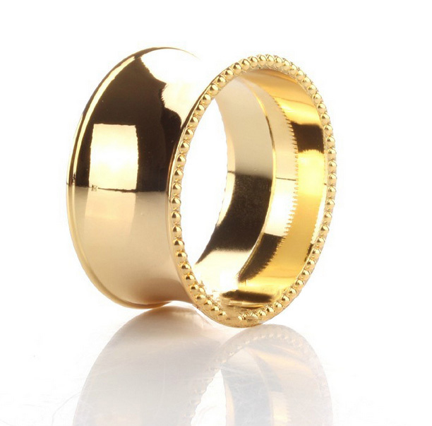 Free Shipping 12pcs/lot Zinc Alloy Gold Brass Concave Surface Round Design Napkin Rings for Wedding Napkin Holders Decoration(China (Mainland))