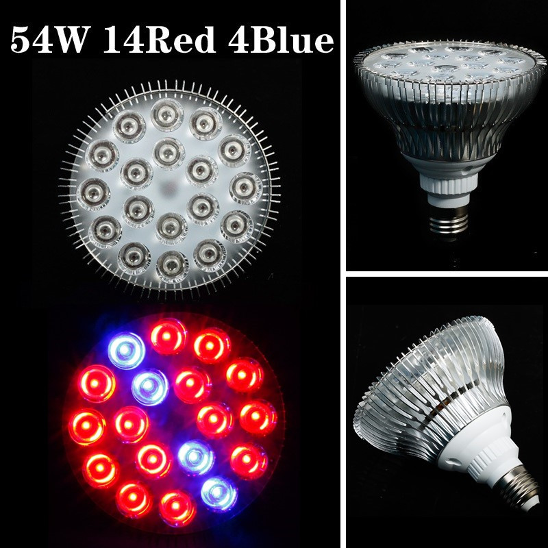 E27 54W 16Red:4Blue High Power LED Grow Light for Flowering Plant and Hydroponics System Plant Lights 85-265V Free Shipping<br><br>Aliexpress