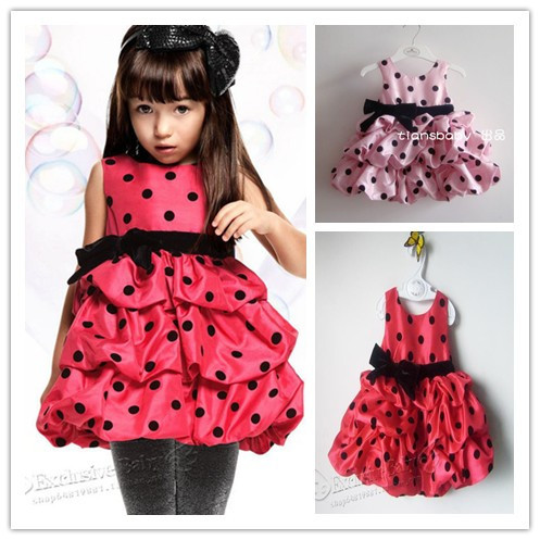 cute baby girl bow pink red lantern dresses kids fashion clothes girls