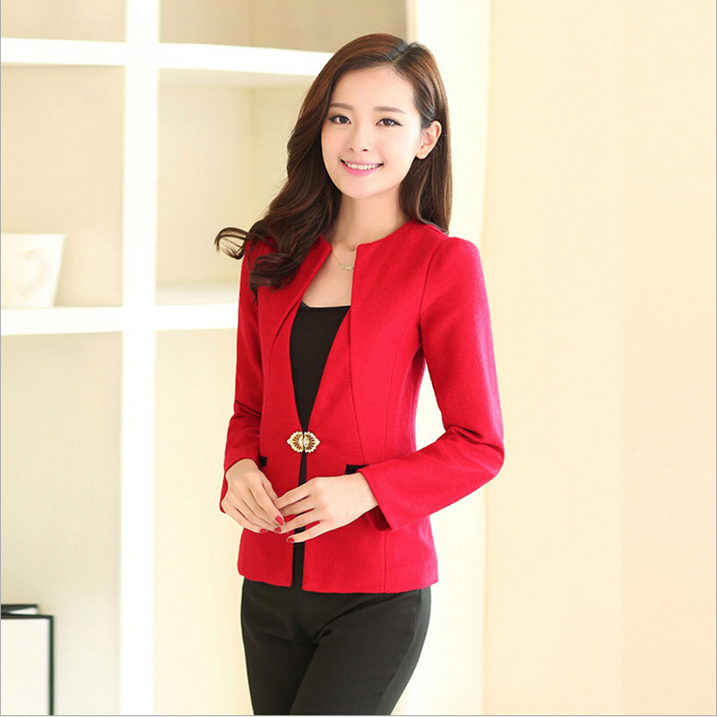 High Quality New 2016 Autumn Business Ladies Pants Suits Formal Office Women Work Wear Trouser ...