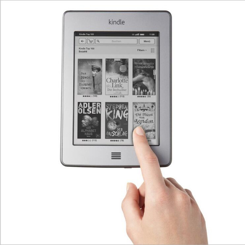 Kindle touch E-book 100% original reader KT ink touch screen electric paper book Machine + USB cable + package + Book CD