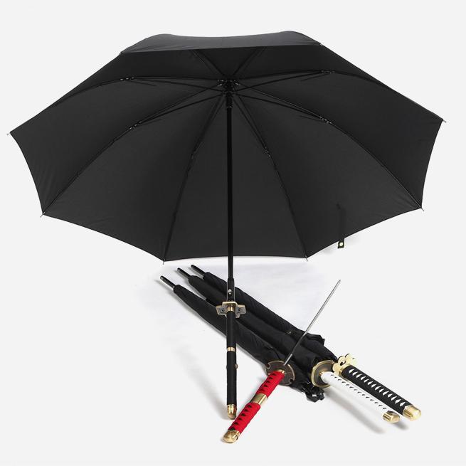 New Fashion Long Handle Creative Personality Gun Umbrella Men Rope Long Knife Samurai Sword Umbrella(China (Mainland))