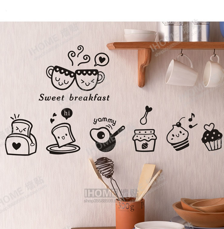Decoratie Keuken Muur : Kitchen Fridge Wall Stickers Decor
