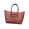 Trendy Simple Ladies New Handbag Occident Style Solid Color Designer Large Bag Women Fashion Cheap Shoulder