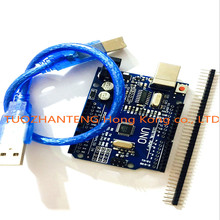 1pcs Smart Electronics high quality UNO R3 MEGA328P CH340G for arduino Compatible with USB CABLE