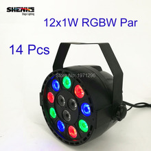 Buy 14 Pcs 12x1W LED Par Light Professional Stage Effect Wash Light RGBW 4in1 8 channels DMX 512 Master/Slave DJ light Equipments for $182.00 in AliExpress store