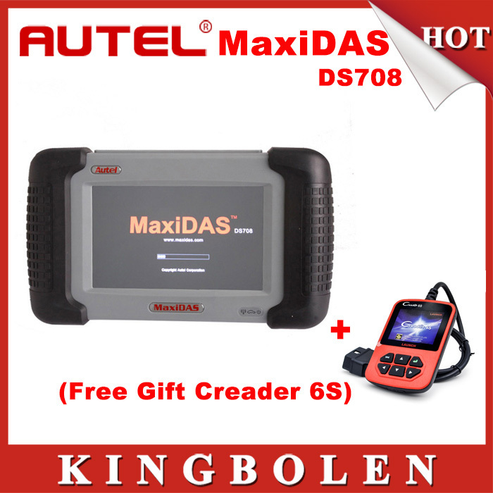 2015 Original Autel MaxiDAS DS708 Automotive Diagnostic System Full Package DS 708 +Creader 6S Gift DHL Free Shipping(China (Mainland))