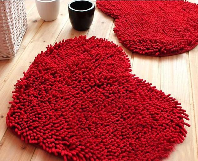 Tapis salon image  super fiber coeur chenille tapis salon table b e