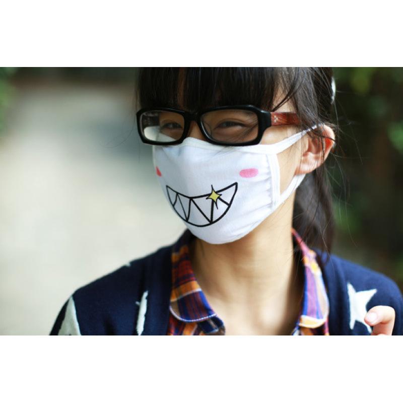 1Pc Fashion Mouth-muffle Lovely Emotion Anti Dust masks Cotton Mouth Mask Warm Ventilate Masks Cloth masks RP2