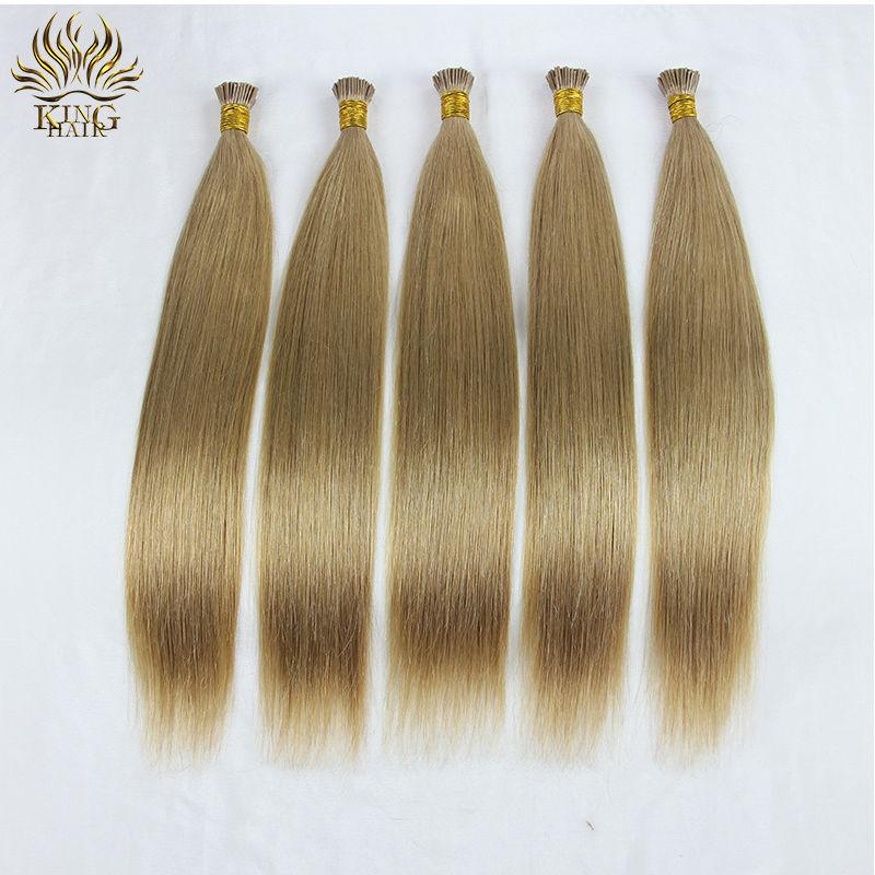 I tip virgin human hair brazilian virgin hair extension brazilian straight hair 100% human hair(China (Mainland))