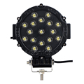 7 Inch 51W 17X 3W Round Epistar LED Work Light 12V Spot Beam For 4WD 4x4