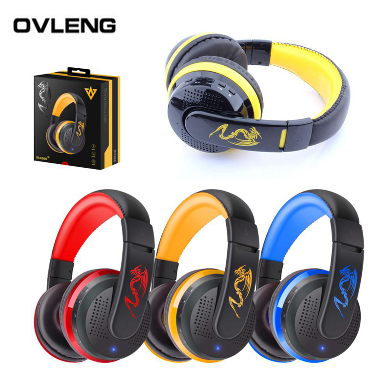 OVLENG MX666 Wireless Bluetooth Headphones Earphones With Microphone Gaming Stereo Hifi Headset Music For iphone Samsung(China (Mainland))