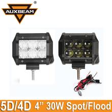 Ausbeam 4D/5D CREE Chips 2pcs 4inch 30W Offroad Driving Led Light Bar Spot/Flood Car Led Work Light ATV 4x4 Truck 4WD Pickup SUV(China (Mainland))