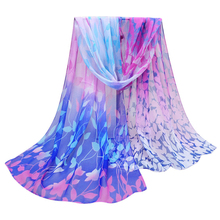 Best Deal New Women Design Printed Soft Chiffon Shawl Wrap Wraps Flower Print Long Scarf Scarves Gift 1PC(China (Mainland))