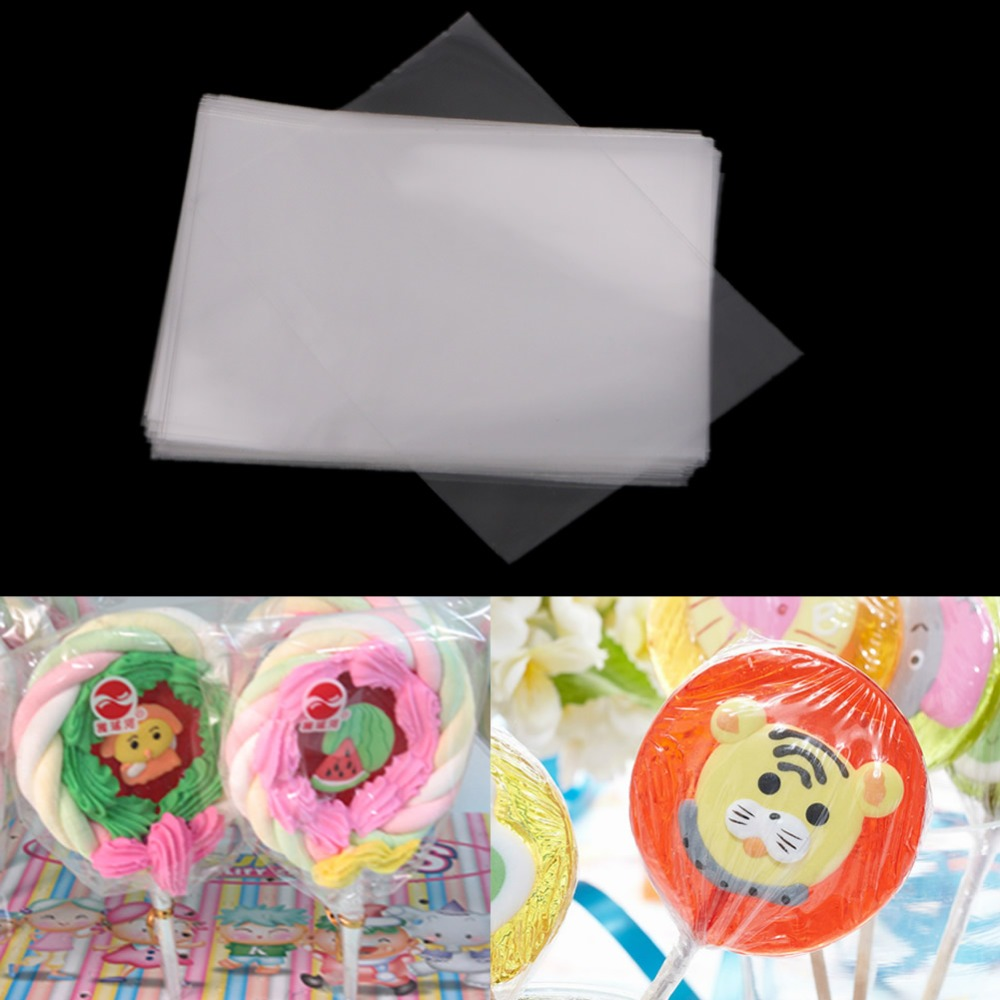 C18 Hot 100Pcs Clear Party Gift Lollipop Chocolate Favor Candy Cello Bags Cellophane(China (Mainland))