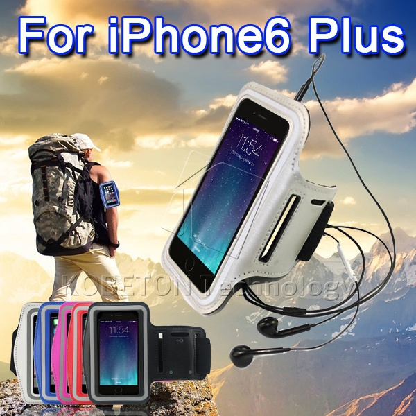 Universal 5.5 inch Mobile Phone Sweatproof Waterproof Jogging Running Arm Band Holder Case iPhone 6 Plus Sport Bag Pouch - Shenzhen Kobeton Technology Co., Ltd store