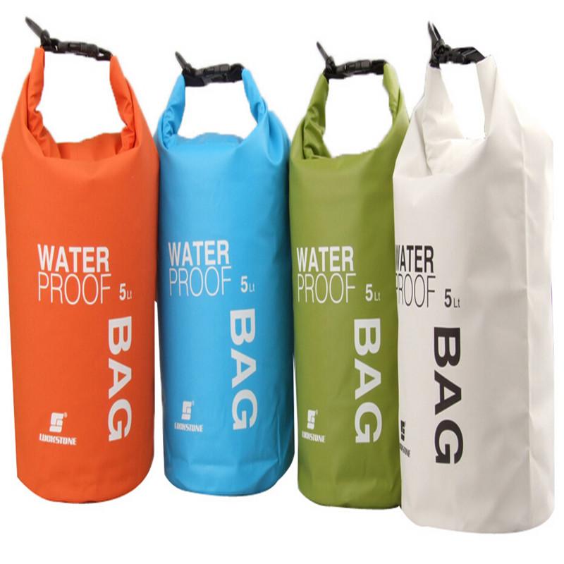 Гаджет  NEW Portable Ultralight Outdoor Travel Rafting Waterproof Dry Bag Swimming 5L Blue/White/Orange/Green None Спорт и развлечения