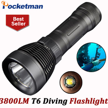 Buy cree xml t6 3800 Lumens Diving flashlight led diving light buceo dive torch Underwater flash light lanterna 18650 26650 for $13.99 in AliExpress store