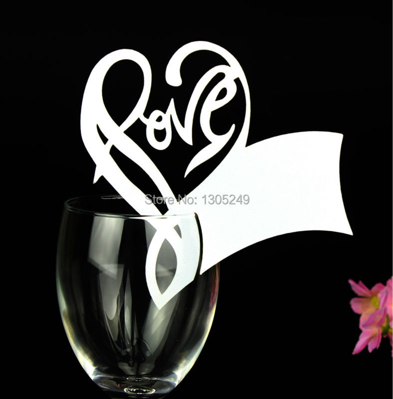 Wine Glass Table Numbers Card Wine Glass Card Table