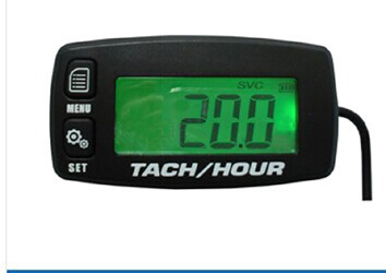 Free Shipping Digital Resettable Inductive Tacho Hour Meter Tachometer For Motorcycle Marine Boat ATV Snowmobile Generator