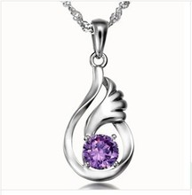Invisible wings pendant with South Korea's foreign trade wholesale 925  zirconia pendant