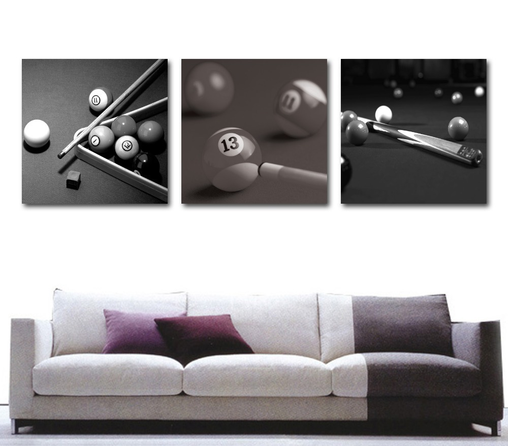 Modern Decorative Pieces Of Table Tennis 3 Piece Modern Abstract Contemporary Art Deco