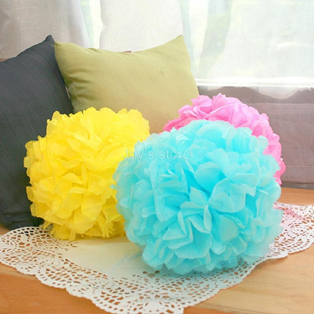 2016 New Brand Tissue Paper Pom-Poms 200mm 1PCS  Flower Wedding Party Home Outdoor Decor Free shipping high quality