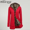 Meaneor Women Fashion Jacket women Long Sleeve Outwear Hooded Fleece women Long Jacket Coat
