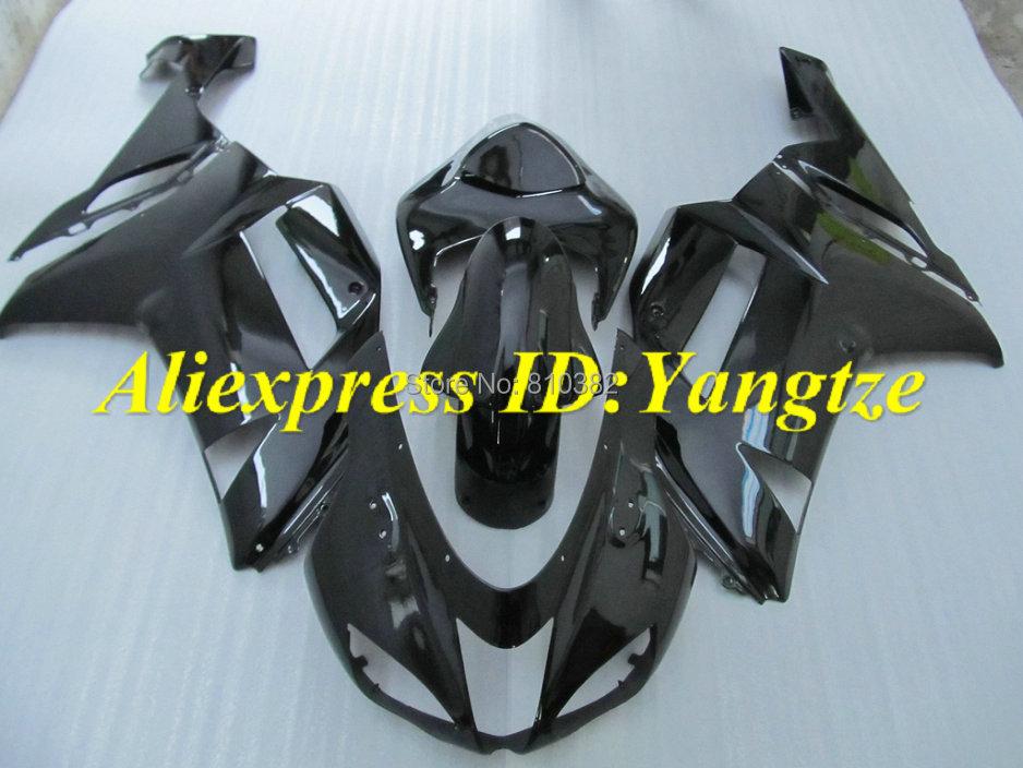 Motorcycle Fairing kit KAWASAKI Ninja ZX6R 07 08 636 2007 2008 gloss black ABS Fairings set +7 gifts SC58 - FAIRING KIT Co. Ltd store