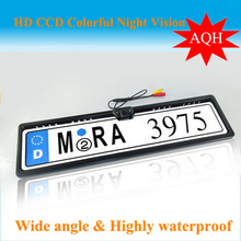 Free shipping New Universal Night Vision European License Plate Frame Car Camera,car reversing camera03.(China (Mainland))