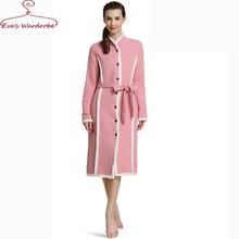 Women winter Robes Thick Wadded bathrobes Ladies With Belt Nightclothes Women Cotton  Pajama Nightgown Hiver Pyjama Femme(China (Mainland))