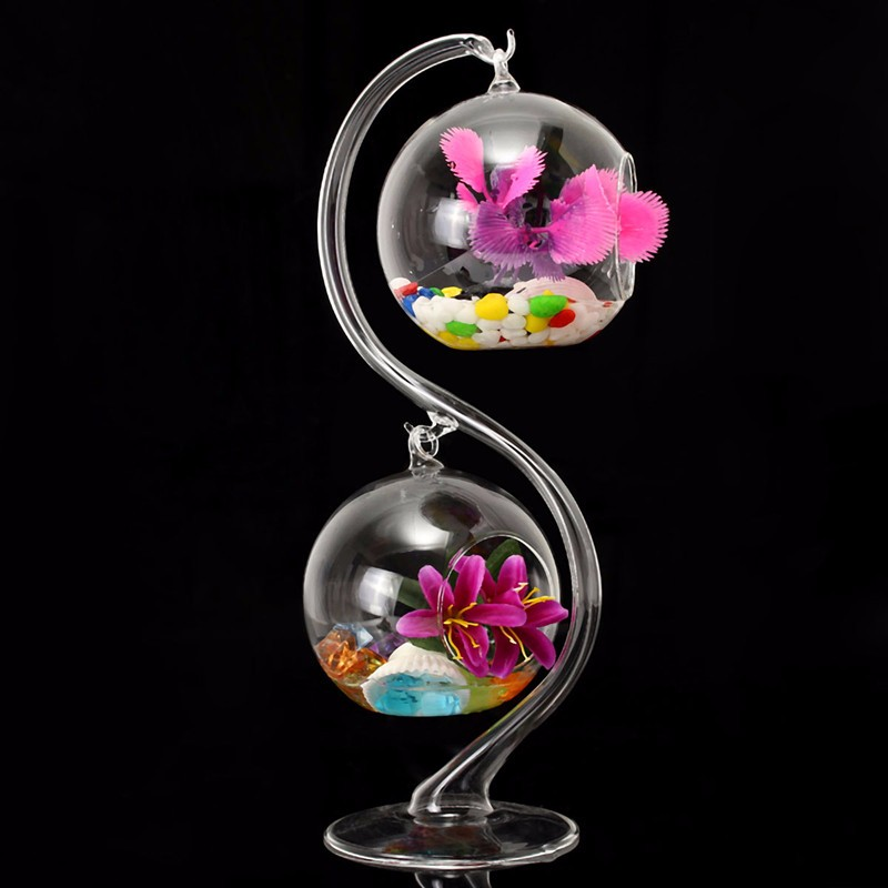 Best Price Fashion Design Crystal Clear Hanging Glass Flower Vases Pot Hydroponic Plant Terrarium Container Home Wedding Decor(China (Mainland))