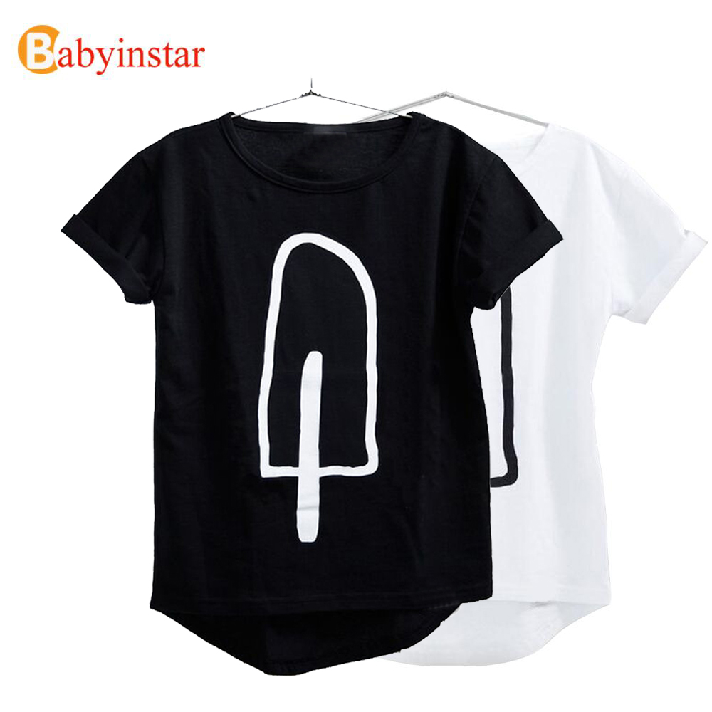 [100% Positive Feedback] Summer T-Shirt for Children 2016 Kid Apparel Baby Ice Cream Pattern tshirt Boys Girls Tops Tees Outwear(China (Mainland))