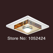 Free Shipping Modern 3W LED Crystal Ceiling Lights Flush Mount Modern Transparent Stainless Steel Hallway lights(China (Mainland))