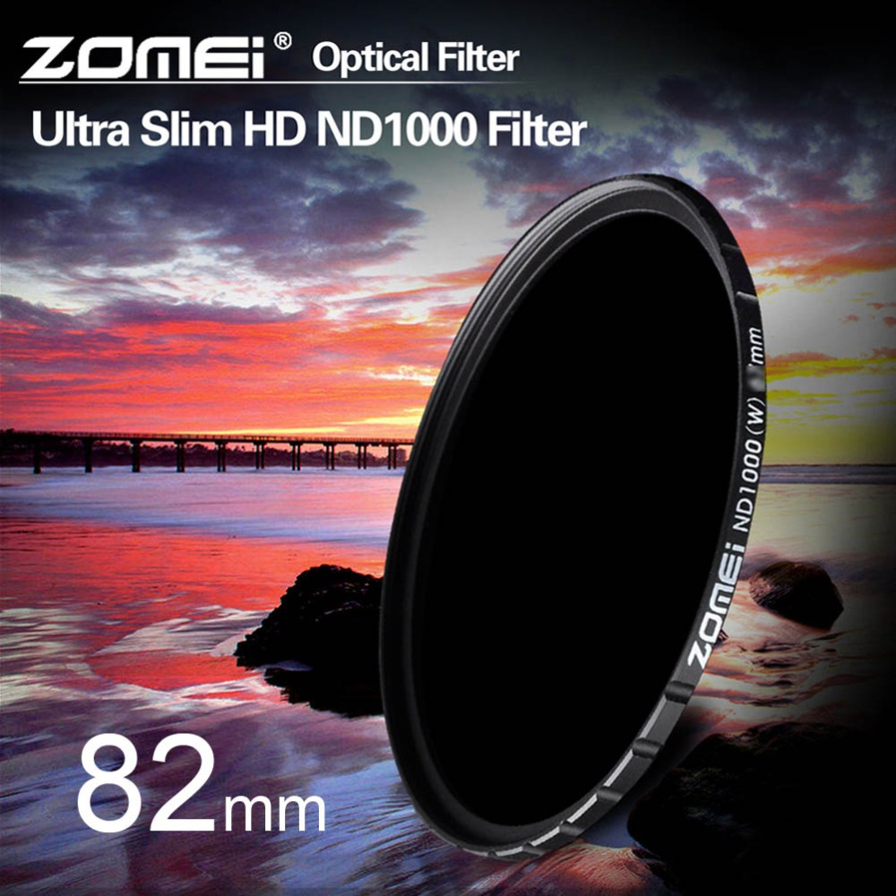 ZOMEI 82mm Ultra Slim HD Multi-Coated ND1000 Pro SCHOTT Glass Neutral Density ND Fitler for Canon Nikon Sony Pentax Olympus lens<br><br>Aliexpress