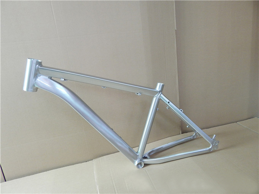 HOT SALE Aluminum alloy mountain bicycle frame 26*17 inch Polish drawing without logo road frame V brake MBF004-silver(China (Mainland))