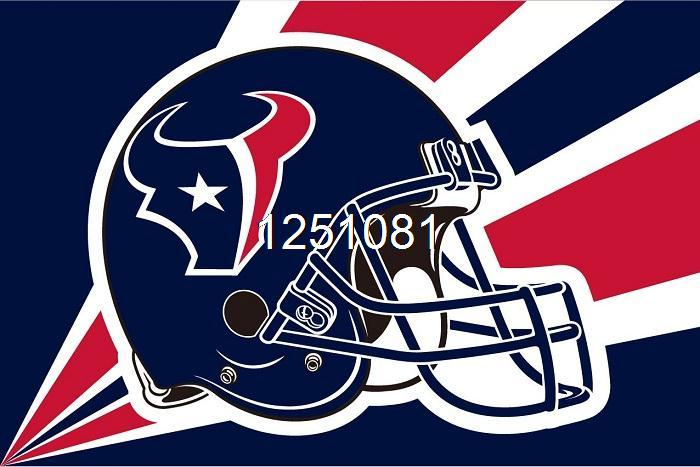 Houston Texans Helmet Lighting Flag 3ft x 5ft Polyester NFL Houston Texans Banner Size No.4 144*96cm QingQing Flag(China (Mainland))