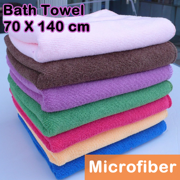 Bath Towels Lots: 5 Pcs/Lot Bulk Microfiber Fabric Bath Towel Outdoor Beach