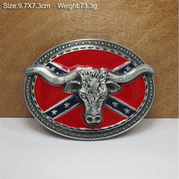 Retail 1pcs Handmade Unique red Bull Head metal belt buckle , Suitable 3.8-4cm Wideth Belt Fashion Men Women Jeans accessories(China (Mainland))