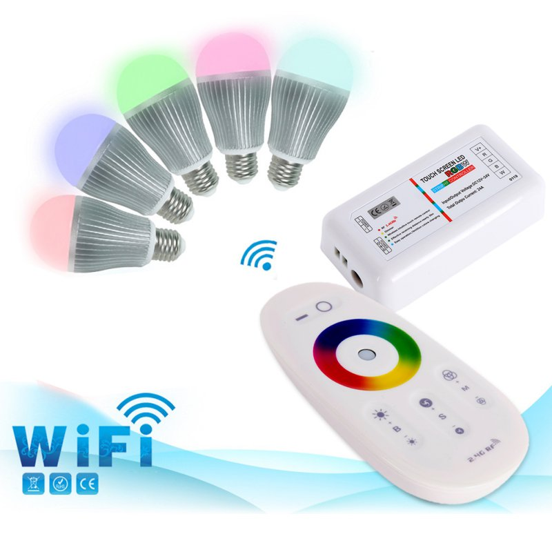 New Hot RGBW RGB Strip LED Touch Screen Dimmer 2.4G RF Remote Wireless Control System(China (Mainland))