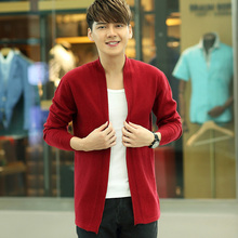 Casual Fashion Autumn Men Sweaters Male O-neck Winter Cardigan Men Knitwear Sweater Slim Sweater Band Cardigan Masculino Plus
