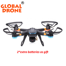 Global Drone White GW007-1 4Channel Radio Remote Control RC drones Gyro 3D professional camera quadcopter gifis 2 battteries